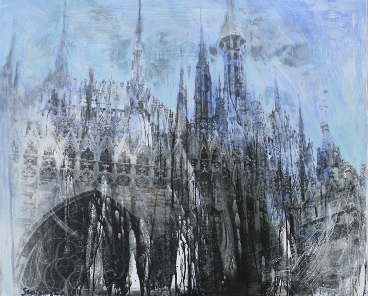 Blaue KathedraleSilbergelatineabzug, Öl90 x 110