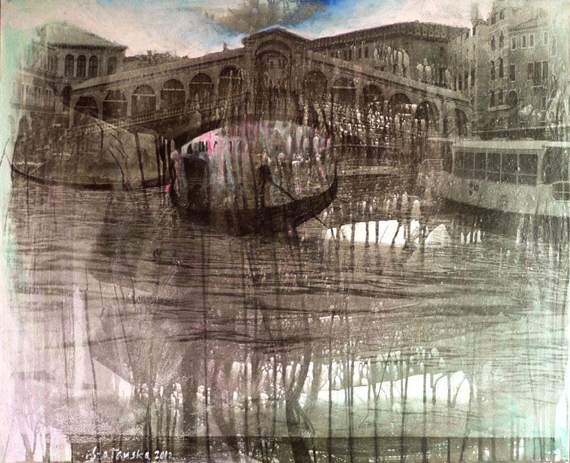 RialtobrückeSilbergelatineabzug, Öl90 x 110