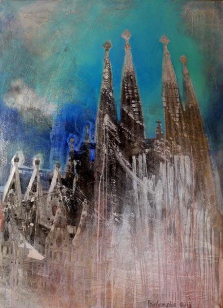 Sagrada FamiliaSilbergelatineabzug, Öl110 x 80
