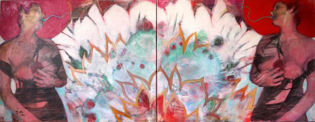 Magic Garden-Elisa IISilbergelatineabzug, ÖlDiptychon 70 x 90 x 2