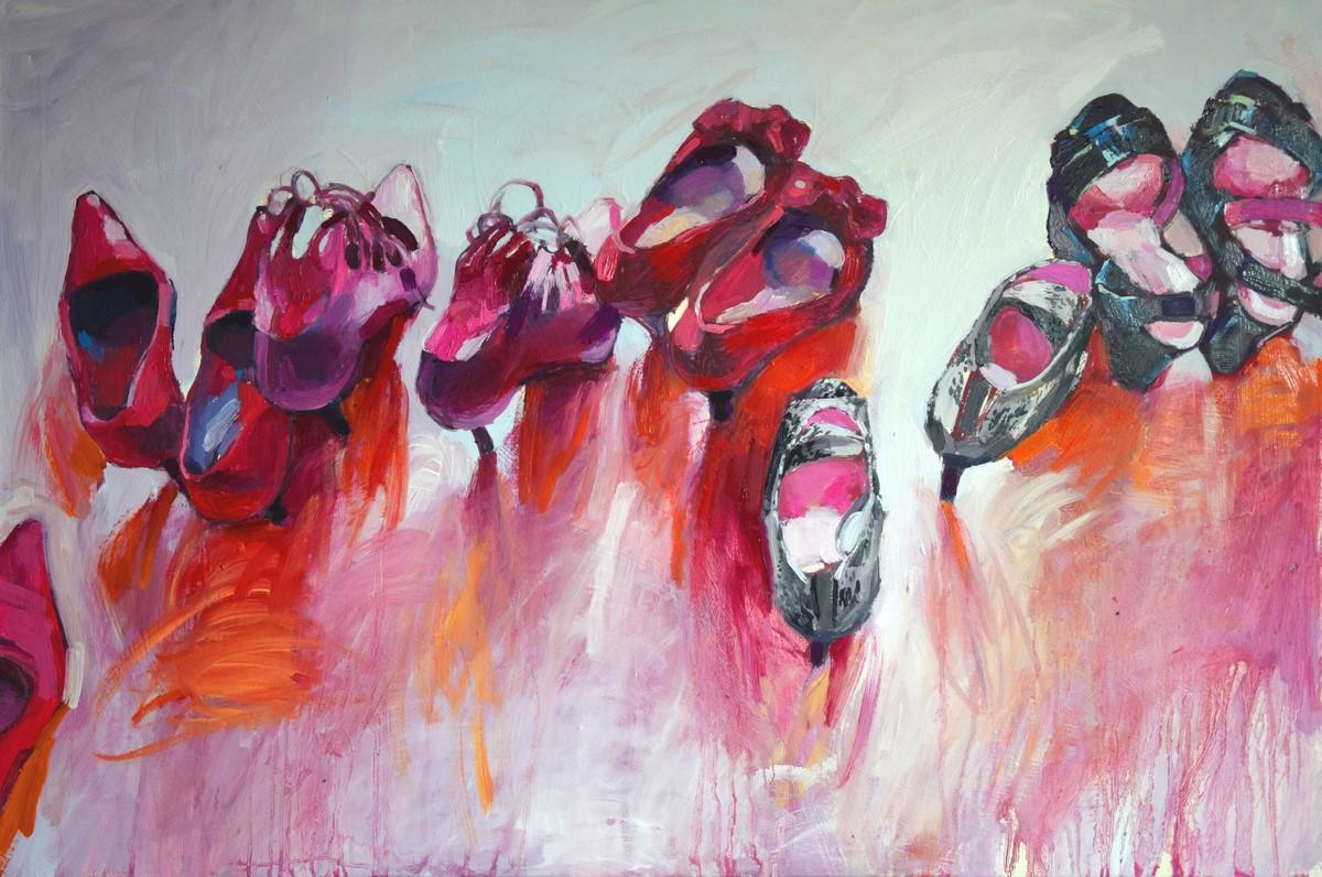 Jolanta szalanska malerei schuh werk